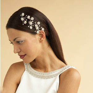 Princess straight wedding hairstyle
