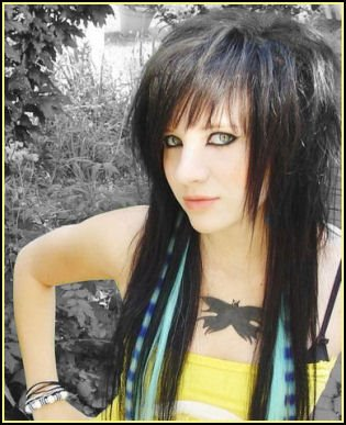 Emo Girls For Hot Emo Girl With Black Long Emo Girl Hairstyle Picture