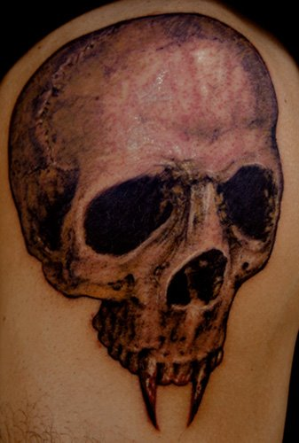 Cute Temporary TattooCool Arm Skull tattoo design