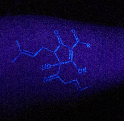 These are invisible tats that only show under black light and UV ink tattoos
