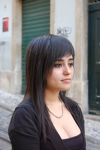 Dark Hairstyle With Irregular Bangs picture