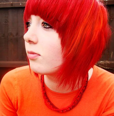 Red With Black Shadow Color Hair Redombre Shadowcolor