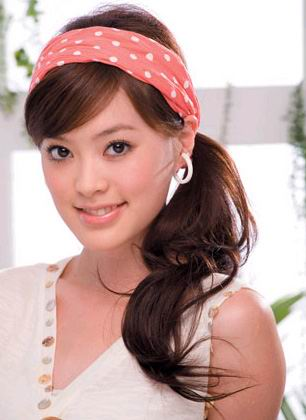 lovely asian summer hair styles 2008 -cute casual summer haircut with two