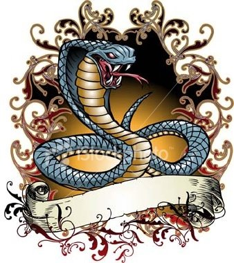 "Japanese Snake Tattoo ""Cobra"""