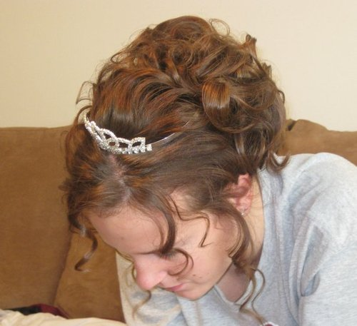 Homecoming curly updo hairstyle