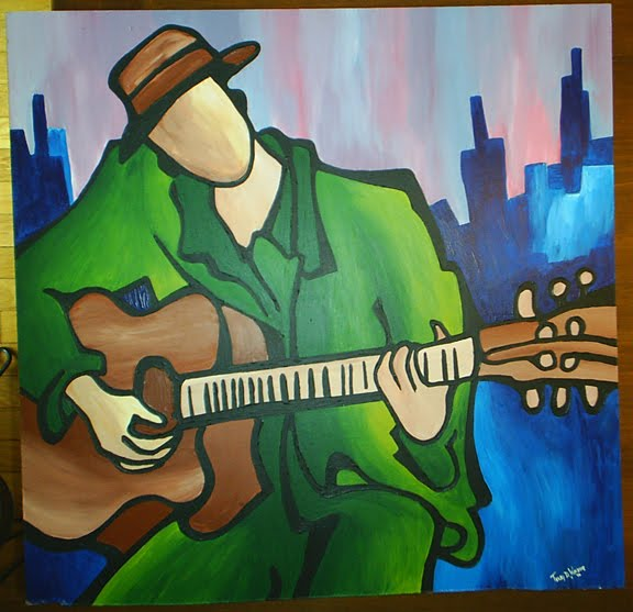Jazz Acooustic Guitar Player