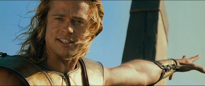 Achilles Brad Pitt Swords and Sandals: Ey...