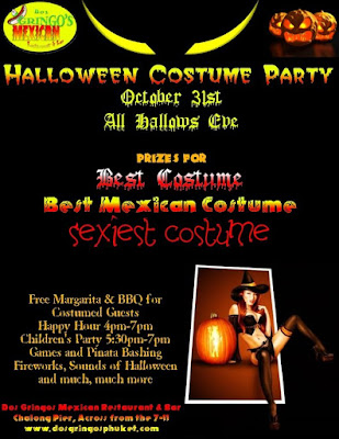 Dos Gringos Halloween Costume Party Flyer