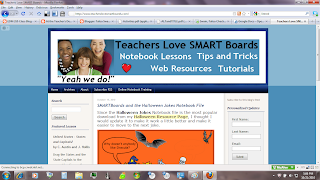 Teacher's Love Smart Boards blog