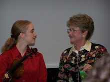 Paris and her violin teacher (Mrs. Massy)