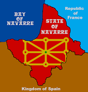 Baskoniako mapa politikoa    Baskonia mapa político