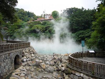 Lac d'eau chaude