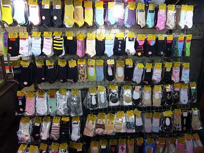 Marché de nuit de Shilin - Boutique de chaussettes