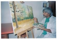 Entre telas pinceles y pinturas...