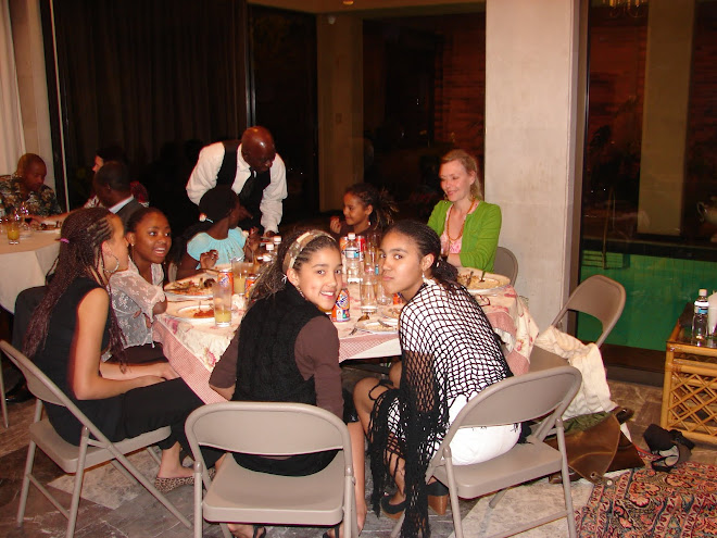 Having dinner at the Cote d'Ivoire Embassy in Mexico City