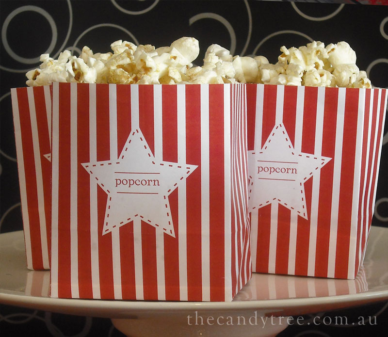 This is an image of Monster Popcorn Bag Printable