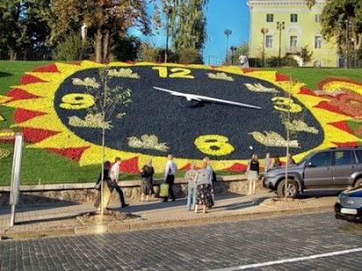 Первый дизайн цветочных часов