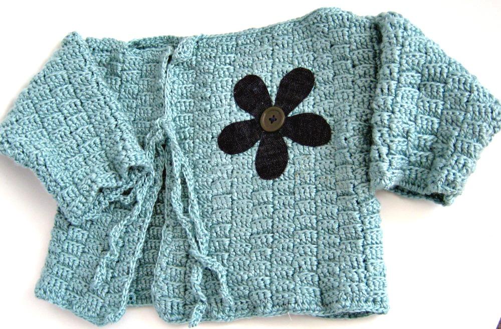 Crochet Kimono : Crochet Kimono Baby Jacket