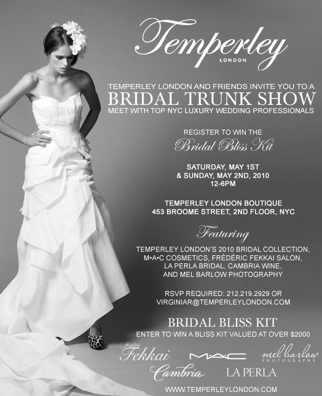 The Chic Bargainista®: Temperley London Spring Bridal Trunk Shows ...