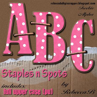 http://rebeccabdigiscrapper.blogspot.com/2009/07/staples-n-spots-alpha-freebie.html