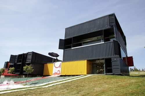 Arquitectura al dia casas construidas con contenedores - Como hacer una casa con un contenedor maritimo ...