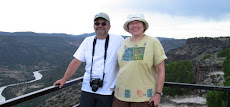 Steve &amp; Elizabeth at White Rock Overlook in New Mexico