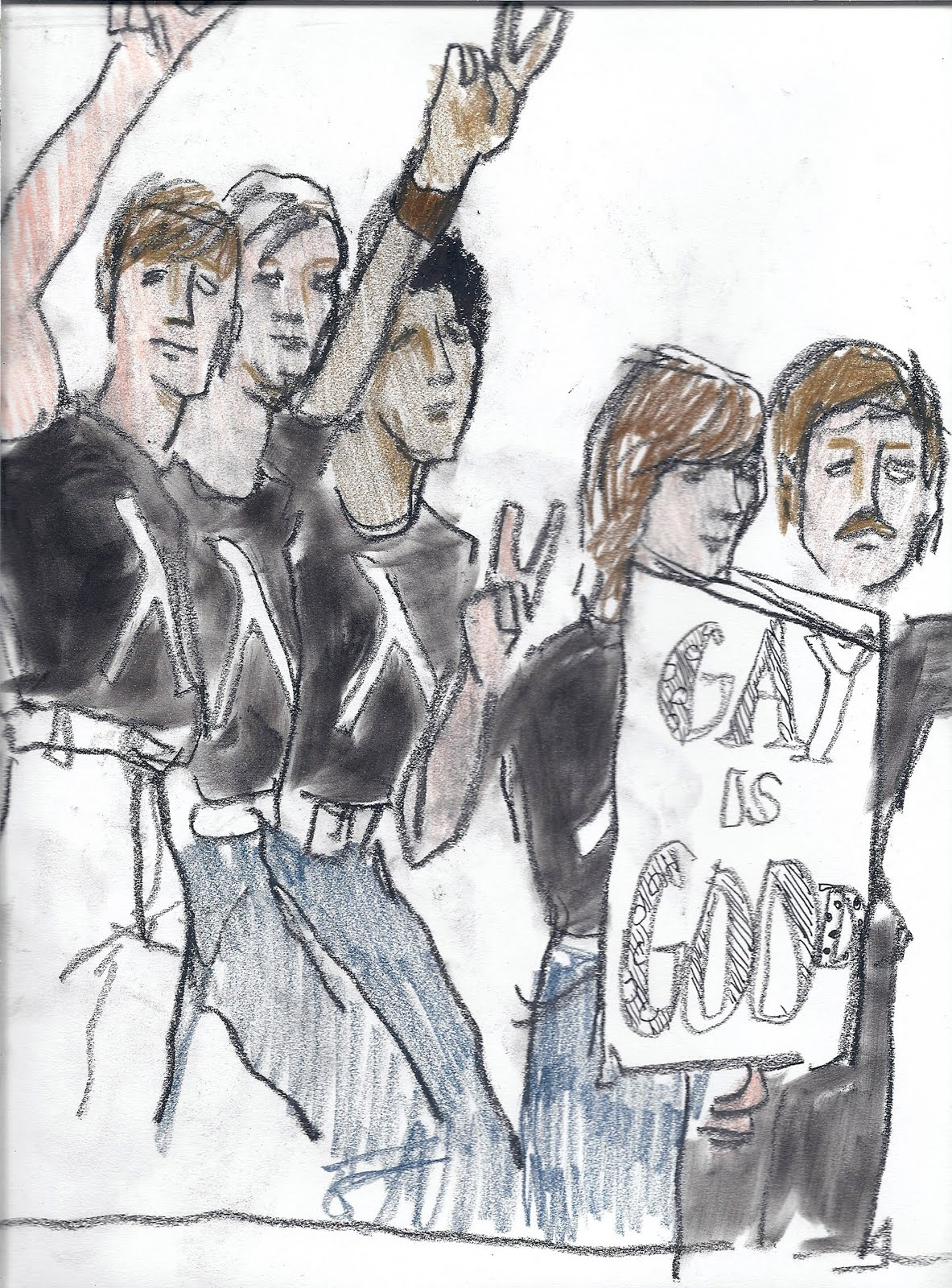 (early 70's Gay Liberation Rally)