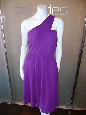 Purple  Shoulder Dress on Decades Inc   Purple Toga