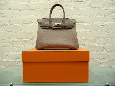 9d4c9c1298 Hermes 30 cm ostrich Birkin in gris tourterelle. L Stamp 2008. Brand new in  box. Let the photos do the talking  ) SOLD
