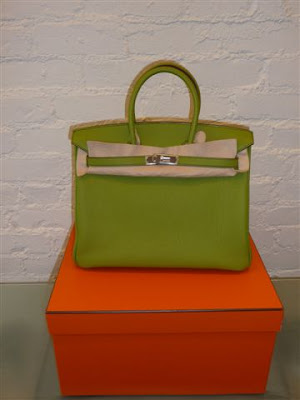 Hermes Birkin togo Vert Anis leather with palladium hardware, L stamp 2008.  35 cm. Flawless Brand New in the box. The key lock pochette are all  carefully ... 3ac24dc3ff
