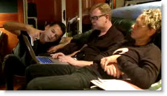 Depeche Mode with Notebook