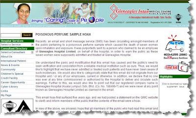 Ampang Gleneagles Hospital Email Hoax