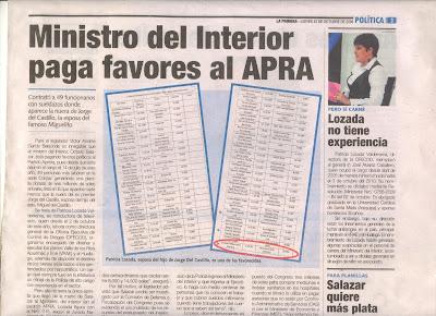 Elpacificador2013 las planillas doradas en el ministerio for El ministerio del interior
