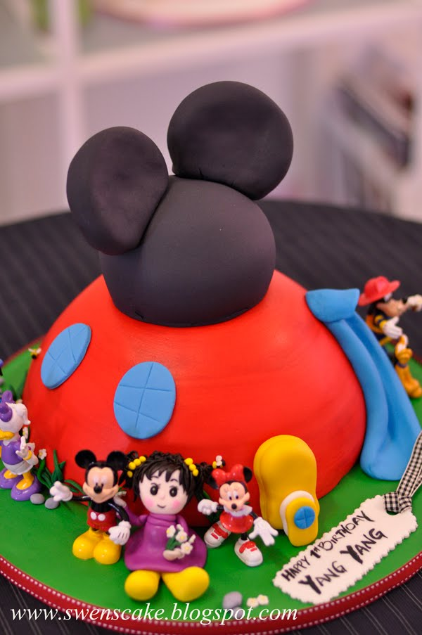 mickey mouse clubhouse cake decoration
