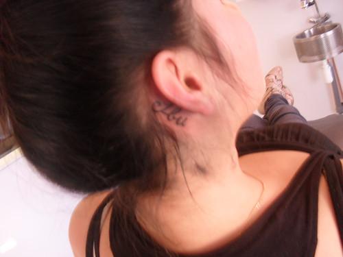 Like I've said before, I've got a tattoo behind my ear.