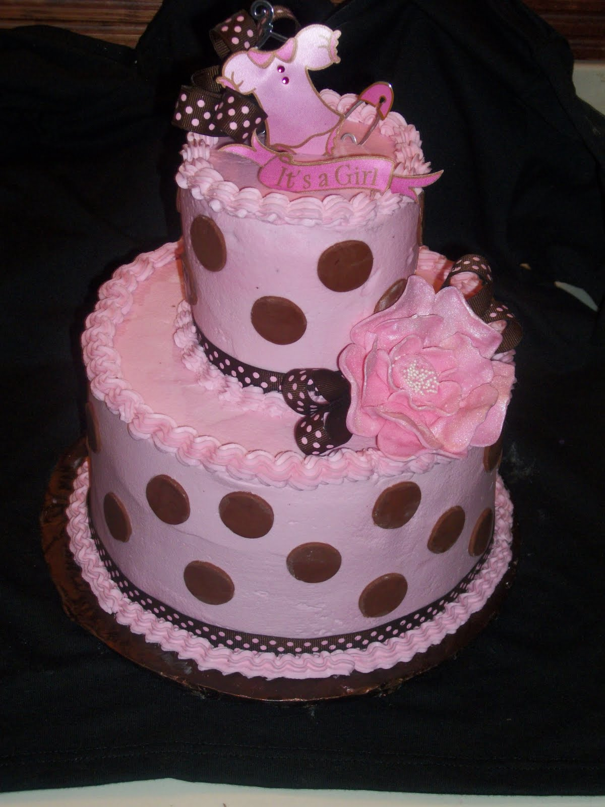 KATHEY'S KONFECTIONS: pink and brown baby shower