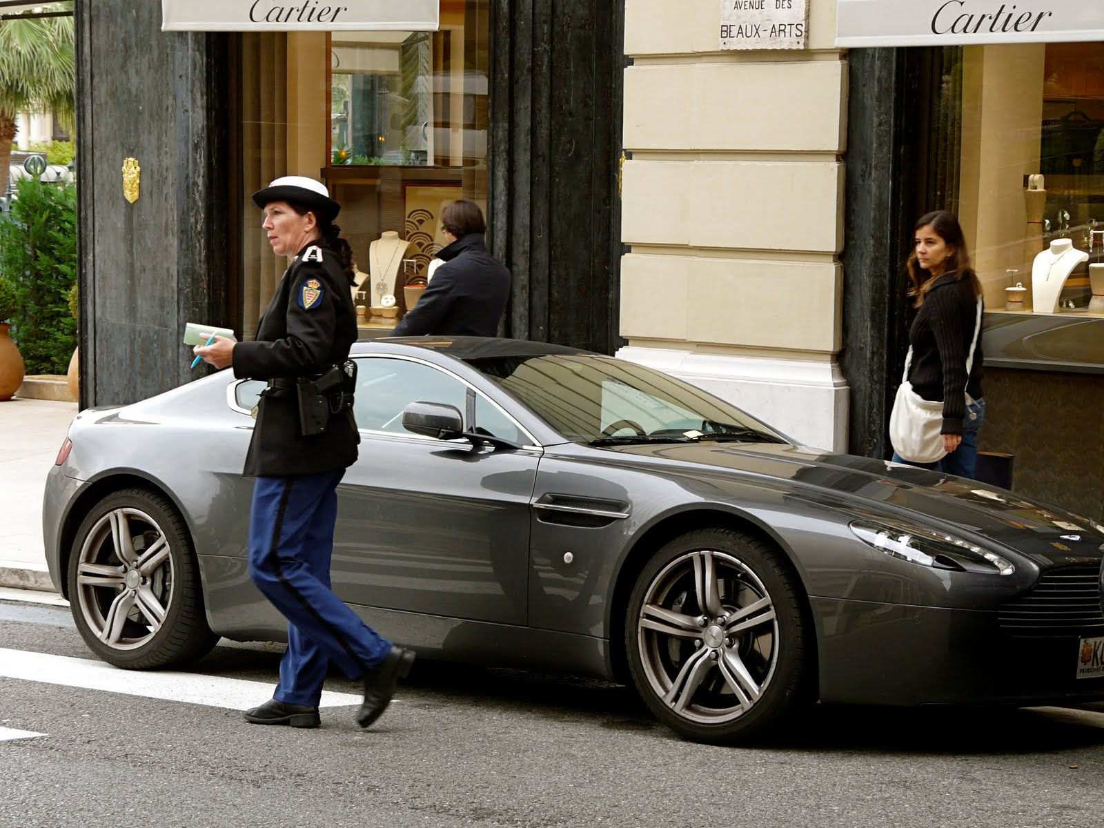 Monte Carlo Weekly Photo: Parking Ticket for an Aston Martin
