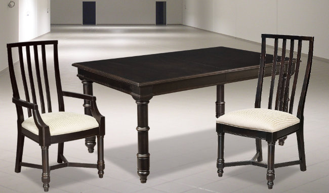 Great Thomasville Furniture Casual Retreat Black Dining Table