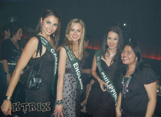 Ms Earth candidates with me in Clear Black Night Halloween Dance Party