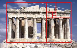 რომის პართენონი აგებულია ოქროს კვეთის პრინციპით