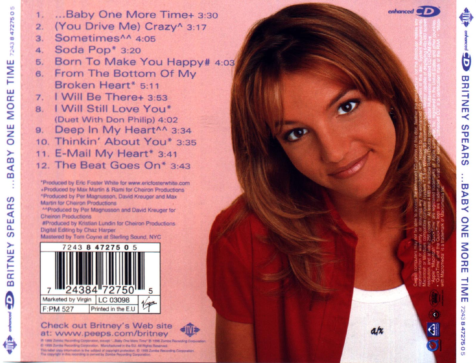 DOWNLOAD - CD - Britney Spears - Baby One More TimeBritney Spears Baby One More Time Album Cover