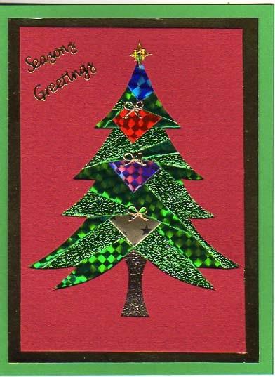 creating cards with andrea  iris folding christmas card
