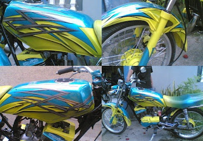 YAMAHA RX KING AIR BRUSH MODIFICATION