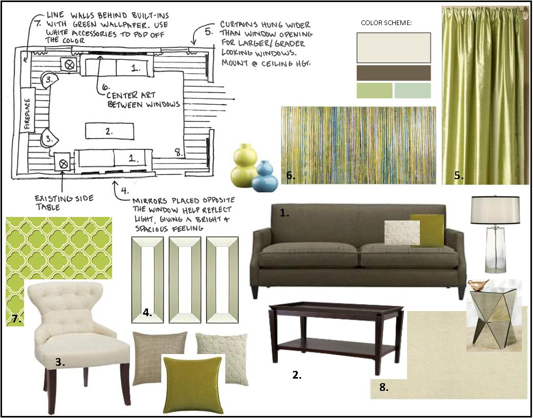 Interior Design Color Boards