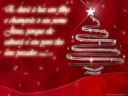 Imagens natalinas com versículos Bíblicos (clique na imagem para ampliar).