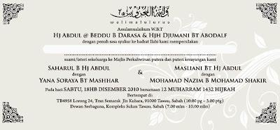 Walimatul Urus Masliani & Nazim   MNS Life Art Distribution Enterprise