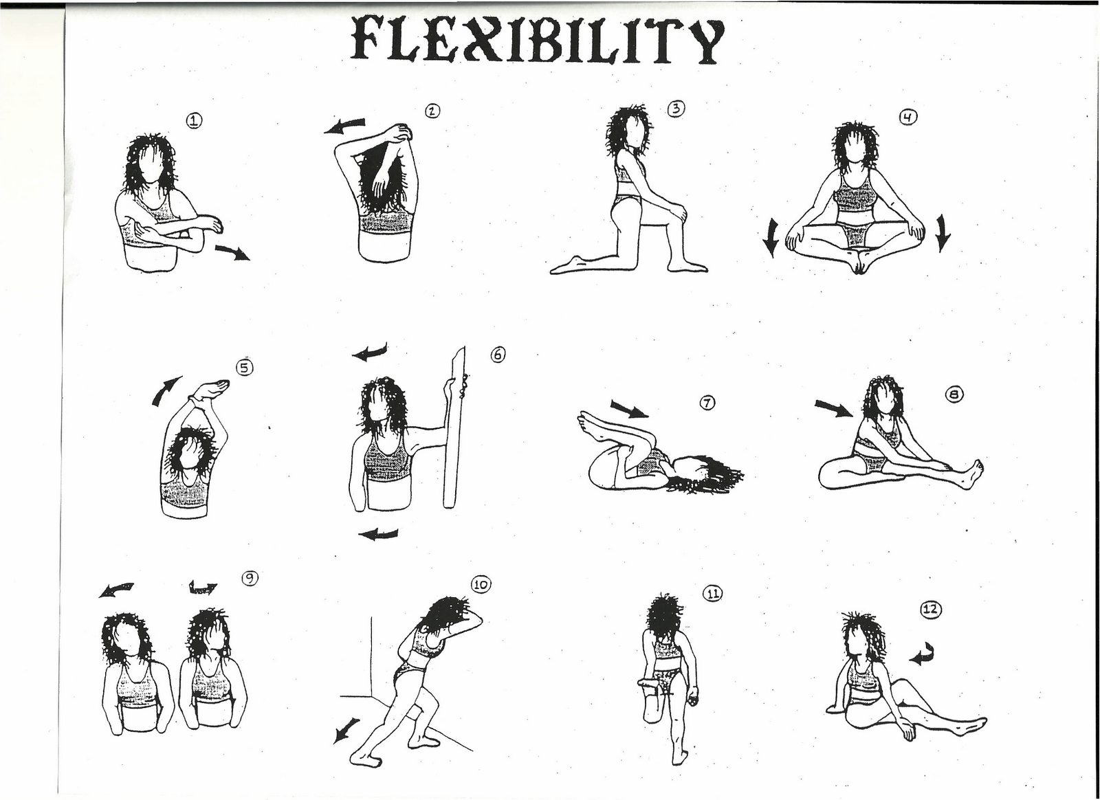 Flexibility Stretches Chart Mama Bootcamp Stretch Chart