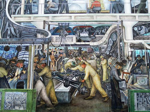 The automobile and american life diego rivera murals for Detroit rivera mural