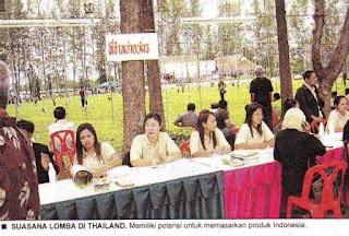 Suasana konkurs perkutut di Thailand