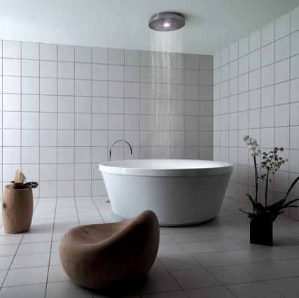 Funky interior geo 180 rain shower tub for Shower over bath ideas